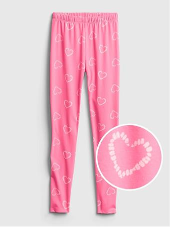 GAP - Kids Print Leggings NEON PINK ROSE