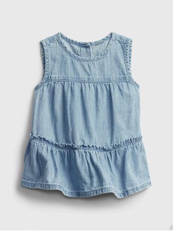 GAP - Baby Denim Tiered Shirt CALIFORNIA MTN