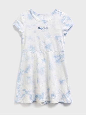 GAP - Logo short sleeve jersey dress TIE DYE