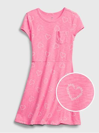 GAP - Kids Skater Dress PINK HEARTS 558