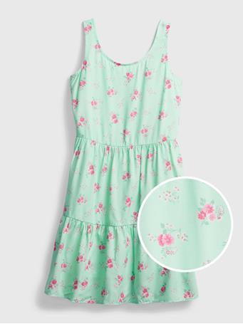 GAP - Kids Floral Babydoll Dress BLUE FLORAL