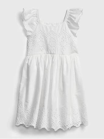GAP - Toddler Eyelet Dress OPTIC WHITE 1