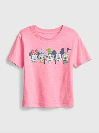 GAP - Disney Mickey Mouse Graphic T-Shirt NEON IMPULSIVE PINK