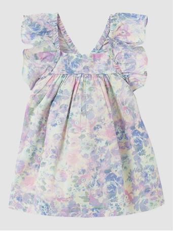 GAP - Baby Floral Flutter Dress PURPLE ROSE