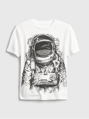 GAP - Kids 3D HD Lost In Space Graphic T-Shirt NEW OFF WHITE