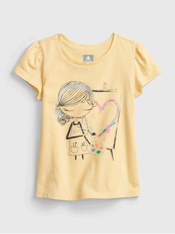 GAP - Toddler 100% Organic Cotton Bea Graphic Mix and Match T-Shirt BEA GRAPHIC