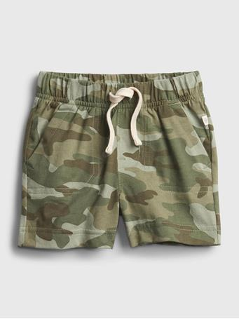 GAP - Baby 100% Organic Cotton Mix and Match Pull-On Shorts GREEN CAMO