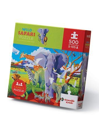 CROCODILE CREEK - Wild Safari 500 Piece Puzzle NO COLOR