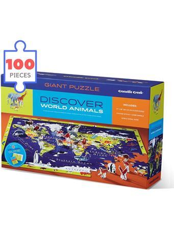 CROCODILE CREEK - Discover World Animals 100 Piece Giant Puzzle NO COLOR