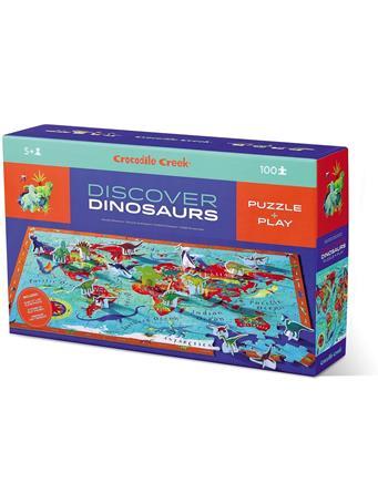 CROCODILE CREEK - Discover Dinosaurs 100 Piece Educational Floor Puzzle NO COLOR