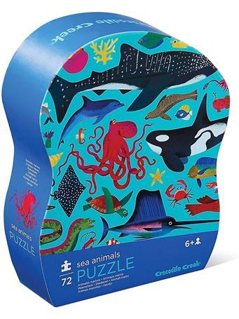 CROCODILE CREEK - Sea Animals 72 Piece Puzzle NO COLOR