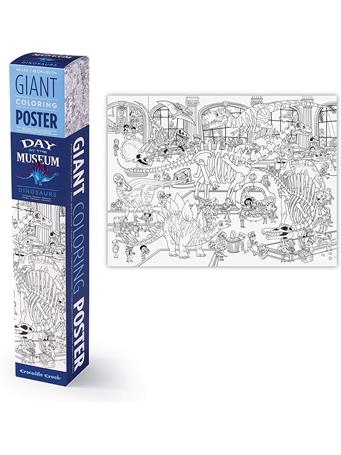 CROCODILE CREEK - Giant Coloring Poster - Day At The Museum - Dinosaurs NO COLOR