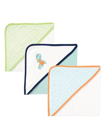BABYVISION - Luvable Friends Cotton Terry Hooded Towels, Dinosaur NOVELTY
