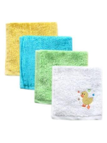 BABYVISION - Luvable Friends Super Soft Cotton Washcloths, Yellow Duck NOVELTY