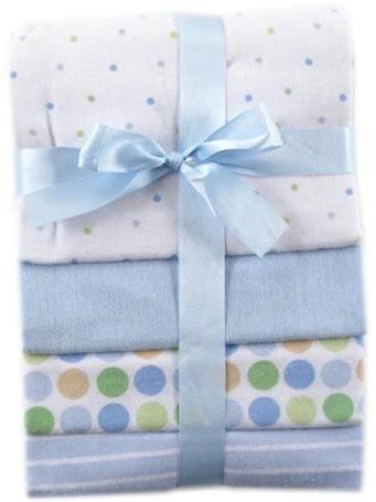 BABYVISION - Luvable Friends Cotton Flannel Receiving Blankets, Blue NO COLOR