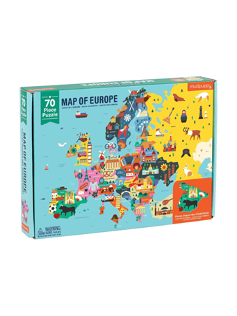 MUDPUPPY - Map Of Europe Geography Puzzle NO COLOR