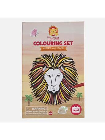 TIGER TRIBE - Animals All Star Colouring Set NO COLOR