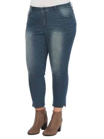DEMOCRACY -Ab Solution High Rise Ankle Length Vintage Skinny Plus Jeans DARK INDIGO ARTISANAL