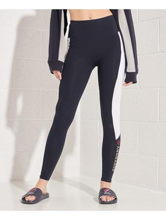 SUPERDRY - Active Lifestyle Full Length Leggings ECLIPSE NAVY