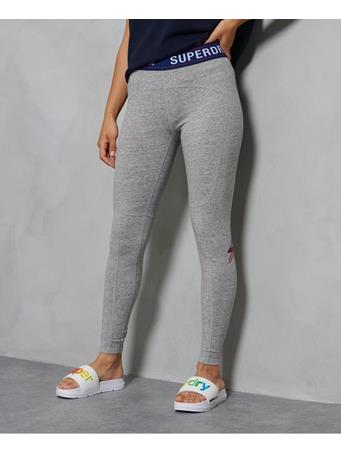 SUPERDRY - Sportstyle Leggings GREY SLUB GRINDLE