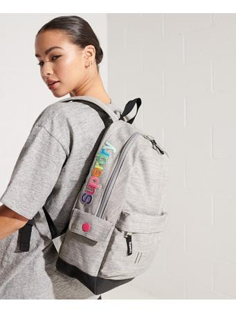 SUPERDRY - Rainbow Applique Montana Rucksack LIGHT GREY MARL