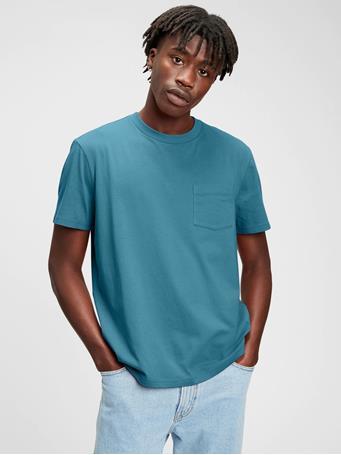 GAP - Organic Cotton Pocket T-Shirt BLUE SAPPHIRE 18-4231