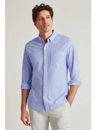 BONOBOS - Knit Oxford Shirt (Slim Fit) MARINE STRIPE 3: CANNES BLUE/P