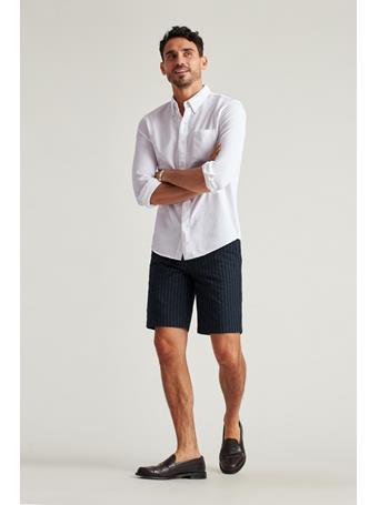 BONOBOS - Knit Oxford Shirt (Slim Fit) WHITE OXFORD