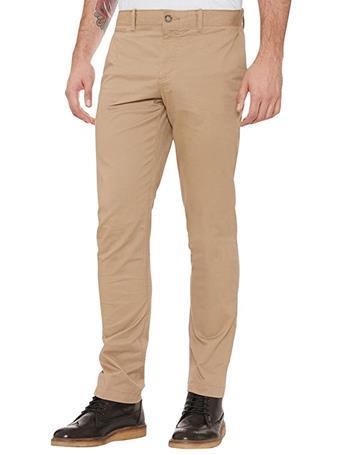 ORIGINAL PENGUIN - Slim Fit Stretch Chino Trousers 250 KELP