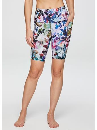 RBX ACTIVE - Bold Floral 9inch Ultra Hold Bike Short BLOOM TEE