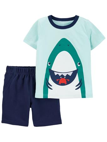 CARTER'S - 2-Piece Shark Tee & Short Set NO COLOR