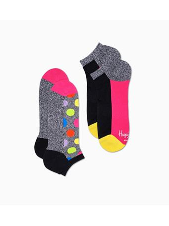HAPPY SOCKS - 2-Pack Athletic Big Dot Low Sock YELLOW