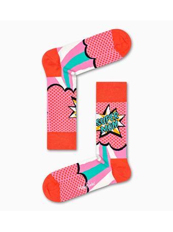 HAPPY SOCKS - Super Mom Sock CORAL
