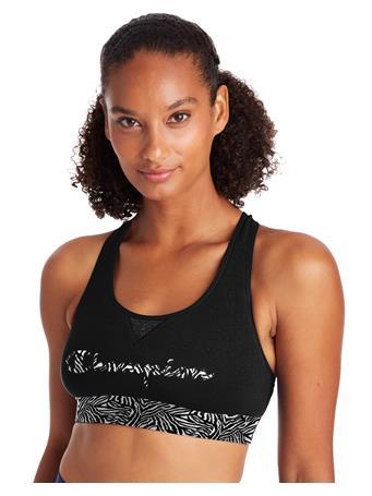 CHAMPION - The Authentic Sports Bra BLACK/LEOPARD
