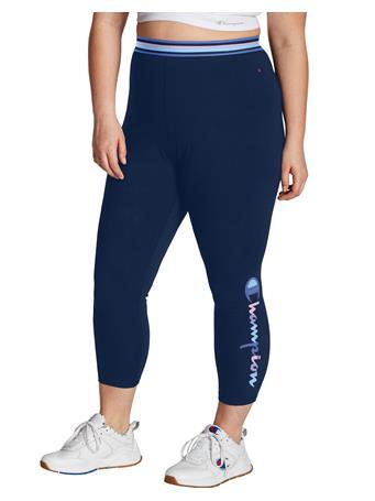 CHAMPION - Plus Authentic 7/8 Leggings, Watercolor Logo A65C NVY PTN