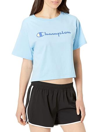 CHAMPION - Cropped Tee 94H CANDID BLUE