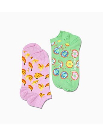 HAPPY SOCKS - 2-Pack Snack Low Sock PINK