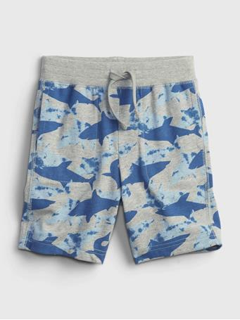 GAP - Toddler 100% Organic Cotton Mix and Match Print Pull-On Shorts BLUE SHARK