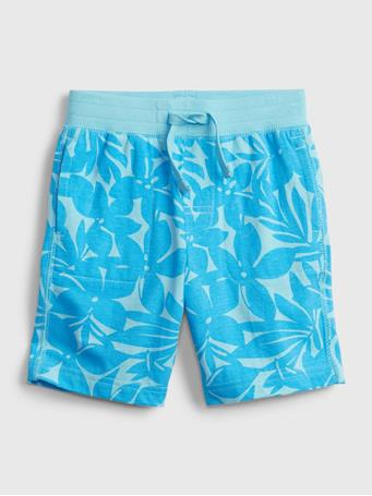 GAP - Toddler 100% Organic Cotton Mix and Match Print Pull-On Shorts BLUE FLORAL