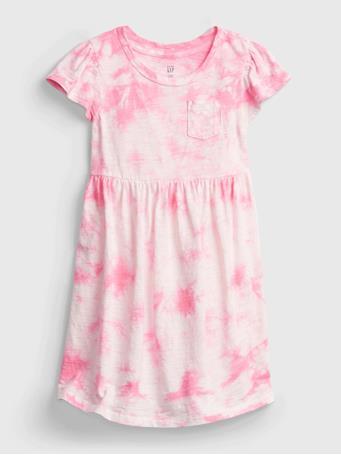 GAP - Toddler Tie-Dye Skater Dress PINK TIE DYE