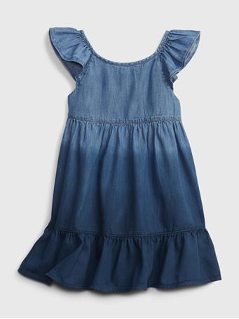 GAP - Toddler Dip-Dye Denim Dress INDIGO DIP DYE