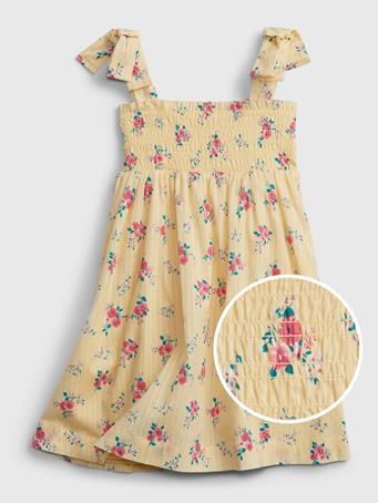 GAP - Toddler Floral Smocked Dress MINI YELLOW FLORAL