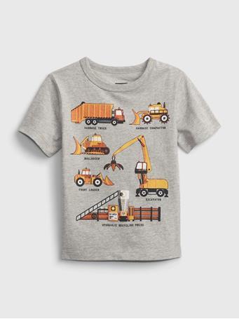 GAP - Toddler 100% Organic Cotton Mix and Match Graphic T-Shirt LIGHT HEATHER GREY V3