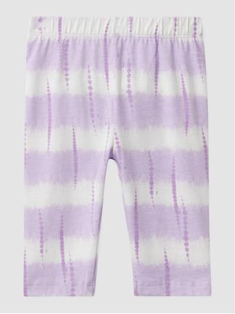 GAP - Toddler Organic Cotton Mix and Match Crop Leggings PURPLE TIE DYE