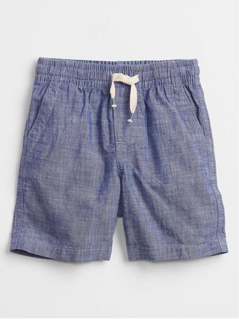 GAP - Toddler Chambray Pull-On Shorts BLUE CHAMBRAY