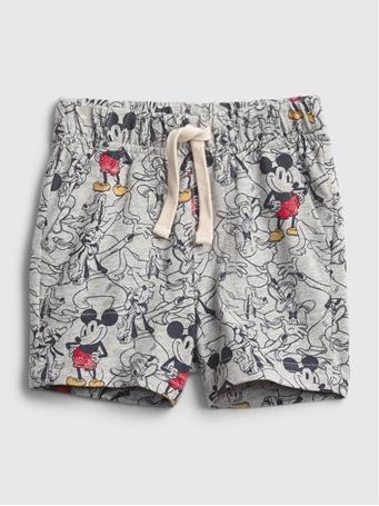 GAP - Disney Mickey Mouse Organic Cotton Mix and Match Pull-On Shorts LIGHT HEATHER GREY B08