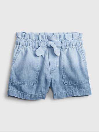 GAP - Toddler Ombre Pull-On Denim Shorts INDIGO MUD