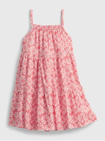 GAP - Toddler Floral Tiered Dress PINK PRINT - X