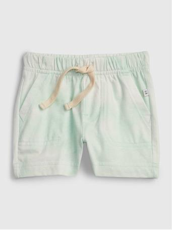 GAP - Baby 100% Organic Cotton Mix and Match Pull-On Shorts GREEN TIE DYE