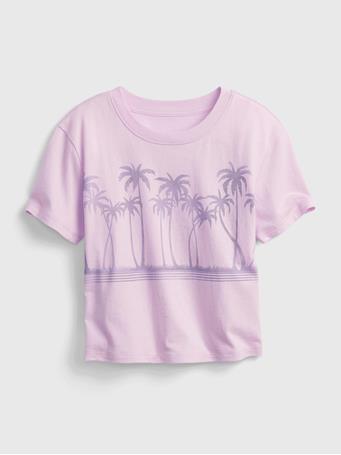 GAP - Kids Graphic Boxy T-Shirt LIGHT IRIS 212